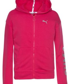 PUMA Kapuzensweatjacke »Alpha Sweat Jacket« rosa