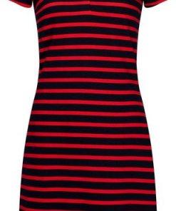 TOMMY HILFIGER Jerseykleid »SLIM STRIPE POLO DRESS« Tommy Hilfiger Logostickerei blau