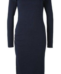 heine TIMELESS Strickkleid mit eleganten Raffungen blau