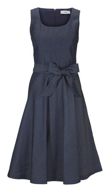 heine TIMELESS Prinzesskleid mit Gürtel blau