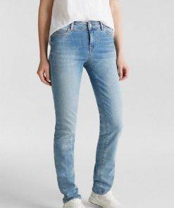 Esprit Superstretch-Jeans mit heller Waschung blau