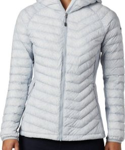 Columbia Outdoorjacke »Powder Pass Kapuzenjacke Damen« grau
