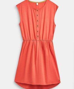 Esprit Fließendes Kleid mit Baumwoll-Futter rot