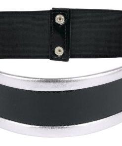 Heine Stretchgürtel mit metallic-Effekt schwarz