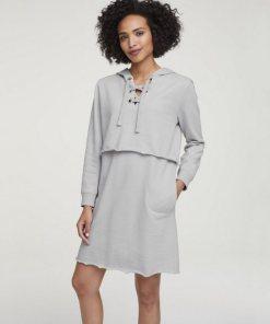 heine CASUAL Kleid trageangenehme Sweatware grau