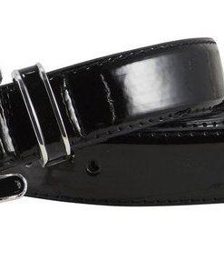 Heine Gürtel in Lack-Optik schwarz