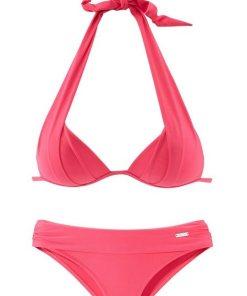 LASCANA Triangel-Bikini mit Push-Up-Effekt rosa