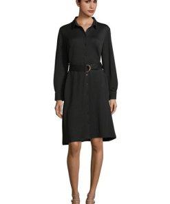 Betty Barclay Hemdblusenkleid »mit Gürtel« schwarz