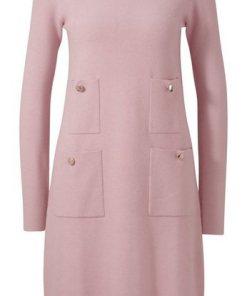 heine TIMELESS Strickkleid mit Taschen rosa