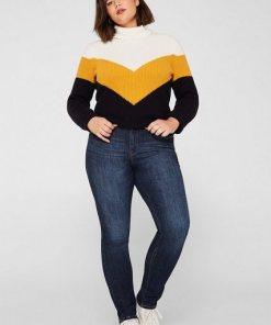 Esprit CURVY Stretch-Jeans mit geradem Bein blau