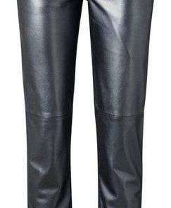 heine TIMELESS Lederhose mit Metallic-Effekt blau