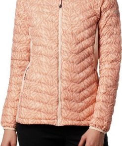 Columbia Outdoorjacke »Powder Pass Kapuzenjacke Damen« rot