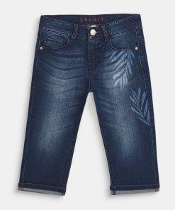 Esprit Superstretch-Jeans in Capri-Länge blau