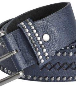 Heine Gürtel mit Stitching blau