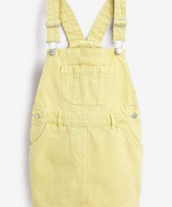 Next Denim-Trägerkleid gelb