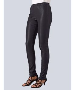 Alba Moda, Lederleggings in softem Lammnappa, schwarz