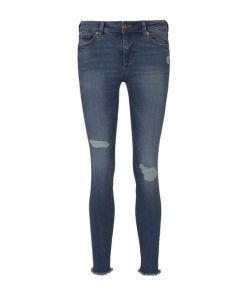 TOM TAILOR DENIM Damen Jona Extra Skinny Jeans, blau, unifarben, Gr.28