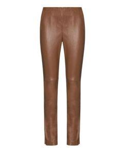 Alba Moda, Lederhose aus hochwertigem Lammnappaleder, braun