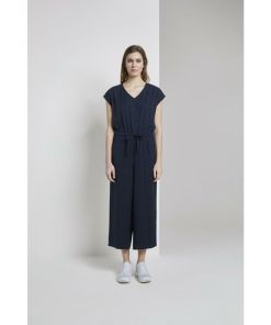 TOM TAILOR Denim Jumpsuit Lyocell Jumpsuit mit weitem Bein