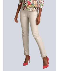 Alba Moda, Lederhose aus super softer Qualität, beige