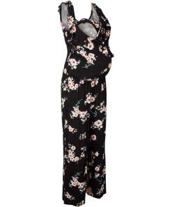 Jersey-Umstands-Jumpsuit / Jersey-Still-Jumpsuit ohne Ärmel schwarz bonprix