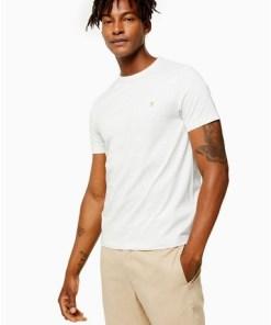 ECRUFarah 'Dennis' T-Shirt mit kurzen Ärmeln, meliert*, ECRU