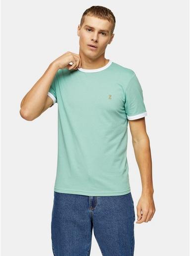 Farah 'Groves' T-Shirt im Ringer-Style, grün, GRÜN
