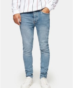 BLAUConsidered Skinny Jeans in heller Waschung, BLAU