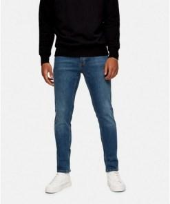 BLAUSkinny Stretch-Jeans in Mid Wash, BLAU