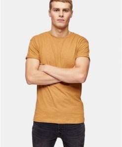 T-Shirt mit Noppenstruktur, braun, BRAUN