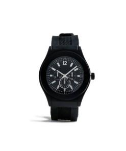Kunststoffarmbanduhr, schwarz*, SCHWARZ