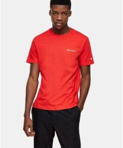 CHAMPION T-Shirt mit kleinem Logo, rot, ROT