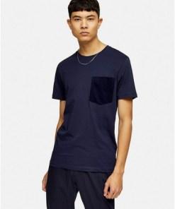 Selected Homme T-Shirt aus Biobaumwolle, blau, BLAU