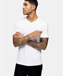 Selected Homme'Perfect' T-Shirt, weiß, WEIß