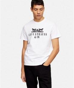 Levi's T-Shirt mit Pferde-Print, weiß, WEIß