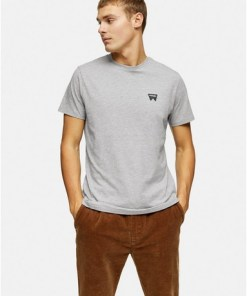 WranglerT-Shirt mit kleinem Logo, grau, GRAU