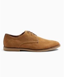 BRAUNSpark Derby-Schuhe in Wildlederoptik, beige, BRAUN
