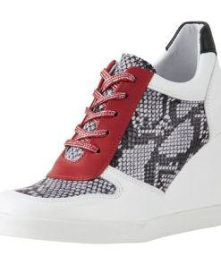 Heine Keilsneaker mit Perforation, weiß