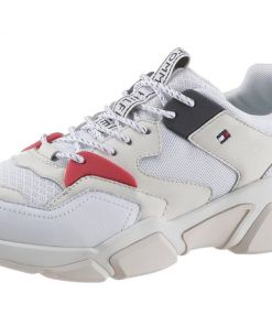 TOMMY HILFIGER Keilsneaker WMN CHUNKY MIXED TEXTILE TRAINER