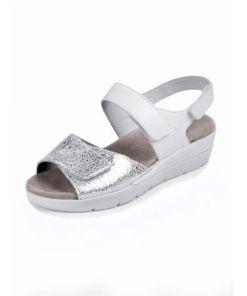 Semler Damen Sandalen Weiß bi-color