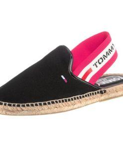 Tommy Jeans Espadrilles schwarz / pink / weiß
