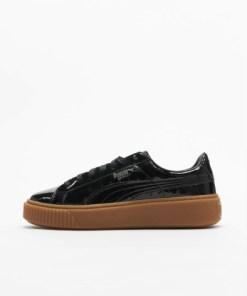 Puma Frauen Sneaker Basket Platform in schwarz