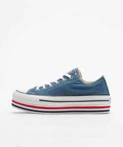 Converse Frauen Sneaker Chuck Taylor All Star Platform Layer Ox in blau
