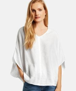 Oversize Bluse Weiss 44/L