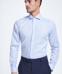 Hemd Sereno, hellblau strukturiert