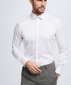 Baumwoll-Hemd Santos, weiß