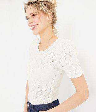 T-Shirt mit Lochmuster