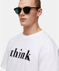 Sonnenbrille mit runden Gläsern, schwarz, SCHWARZ