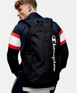 CHAMPION Rucksack mit Reißverschluss, schwarz, SCHWARZ