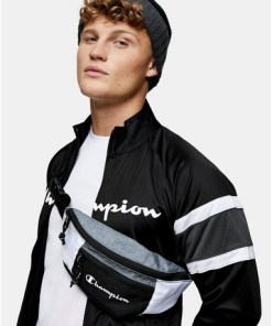 CHAMPION Umhängetasche mit Blockfarbendesign, schwarz und weiß, SCHWARZ